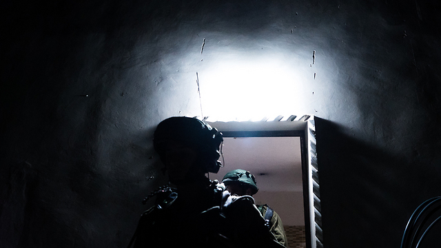 IDF soliders searching one of the terrorists' houses (Photo: IDF Spokesperson's Unit)