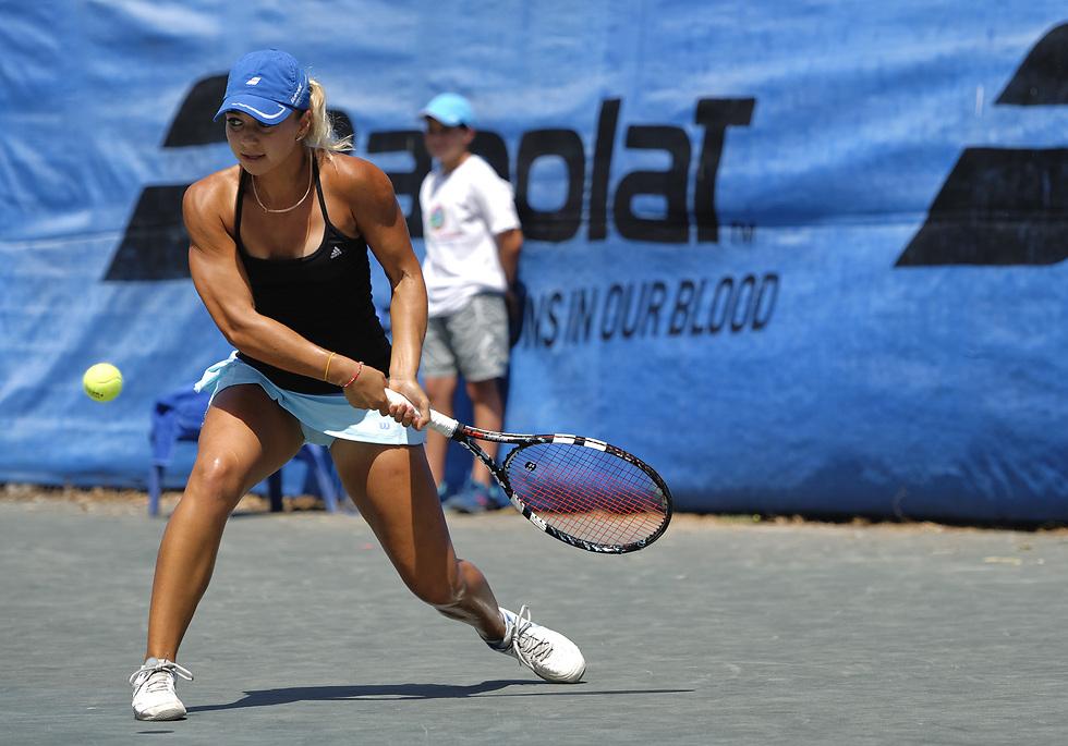 סיימה כמנצחת. ולדה אקשיברובה (צילום: אלכס שפירו, איגוד הטניס) (צילום: אלכס שפירו, איגוד הטניס)
