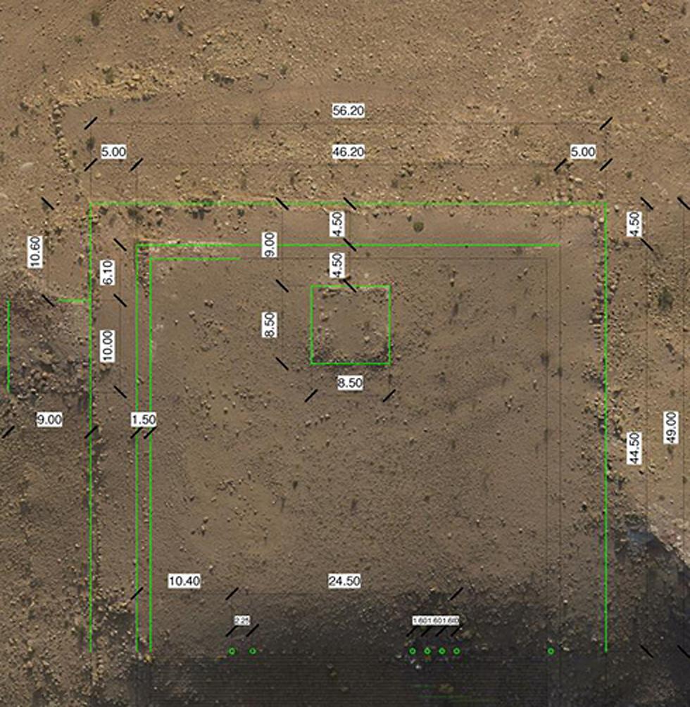 התגלית הארכיאולוגית במבט מהלוויין (צילום:  I. LABIANCA) (צילום:  I. LABIANCA)