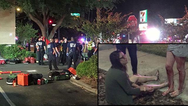 """פצועים מחוץ למועדון באורלנדו. """"חשבנו שקולות הנפץ הם חלק מהשיר"""" (צילום: EPA) (צילום: EPA)"""