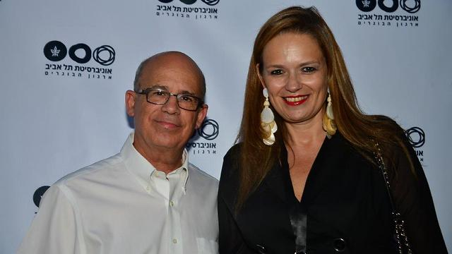 TAU President Professor Yosef Klaptor with Sigal Eder, Head of the Friends of TAU Associatin (Photo: TAU Alumni Association)
