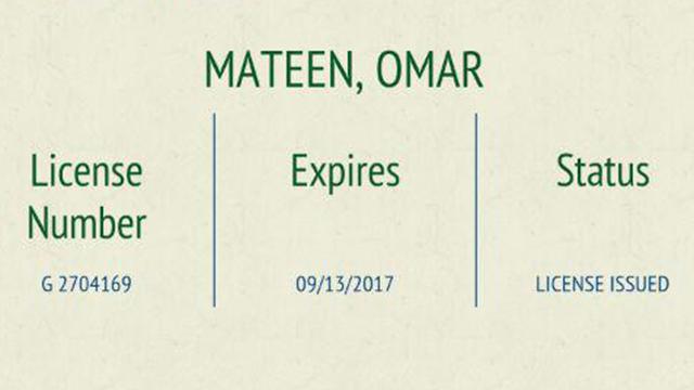 רישיון הנשק של עומאר מאטין ()