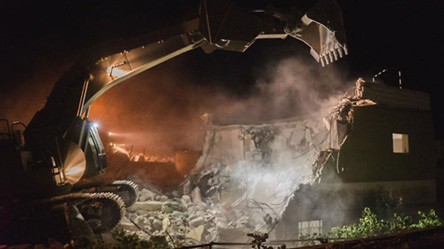 Home demolition (File photo: IDF Spokesperson)