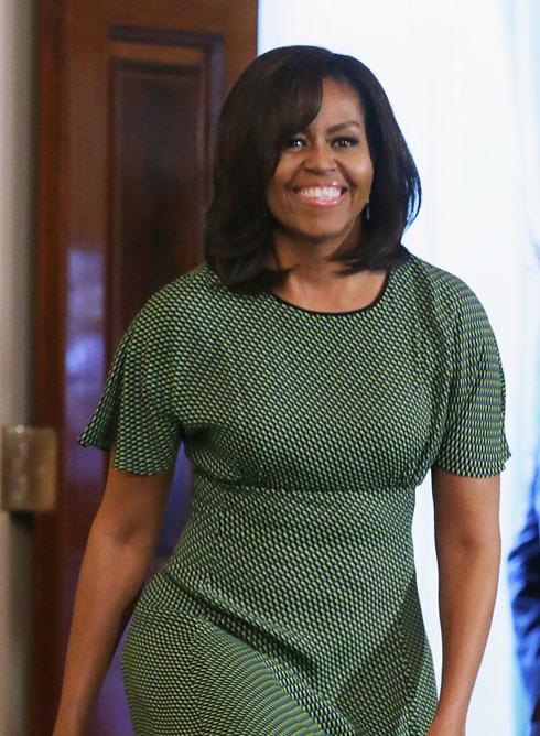 הליידי הזוהרת הראשונה של אמריקה. מישל אובמה, בת 52  (צילום: gettyimages)