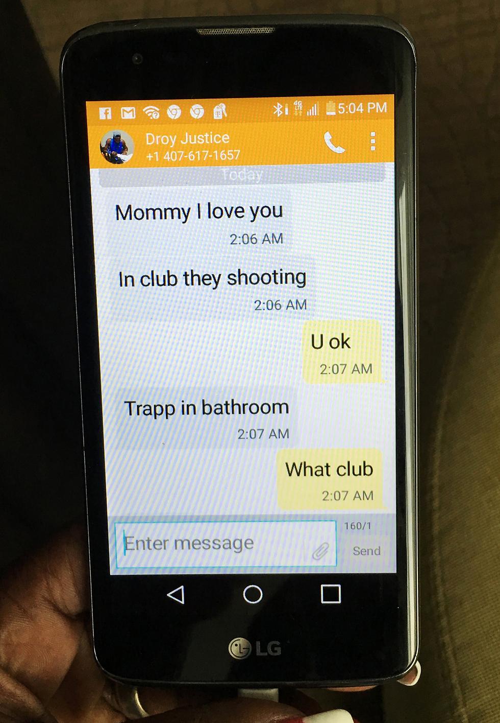 """""""אימא אני אוהב אותך... הם יורים במועדון... לכוד בשירותים..."""". המסרונים של אדי לאמו (צילום: AP) (צילום: AP)"""