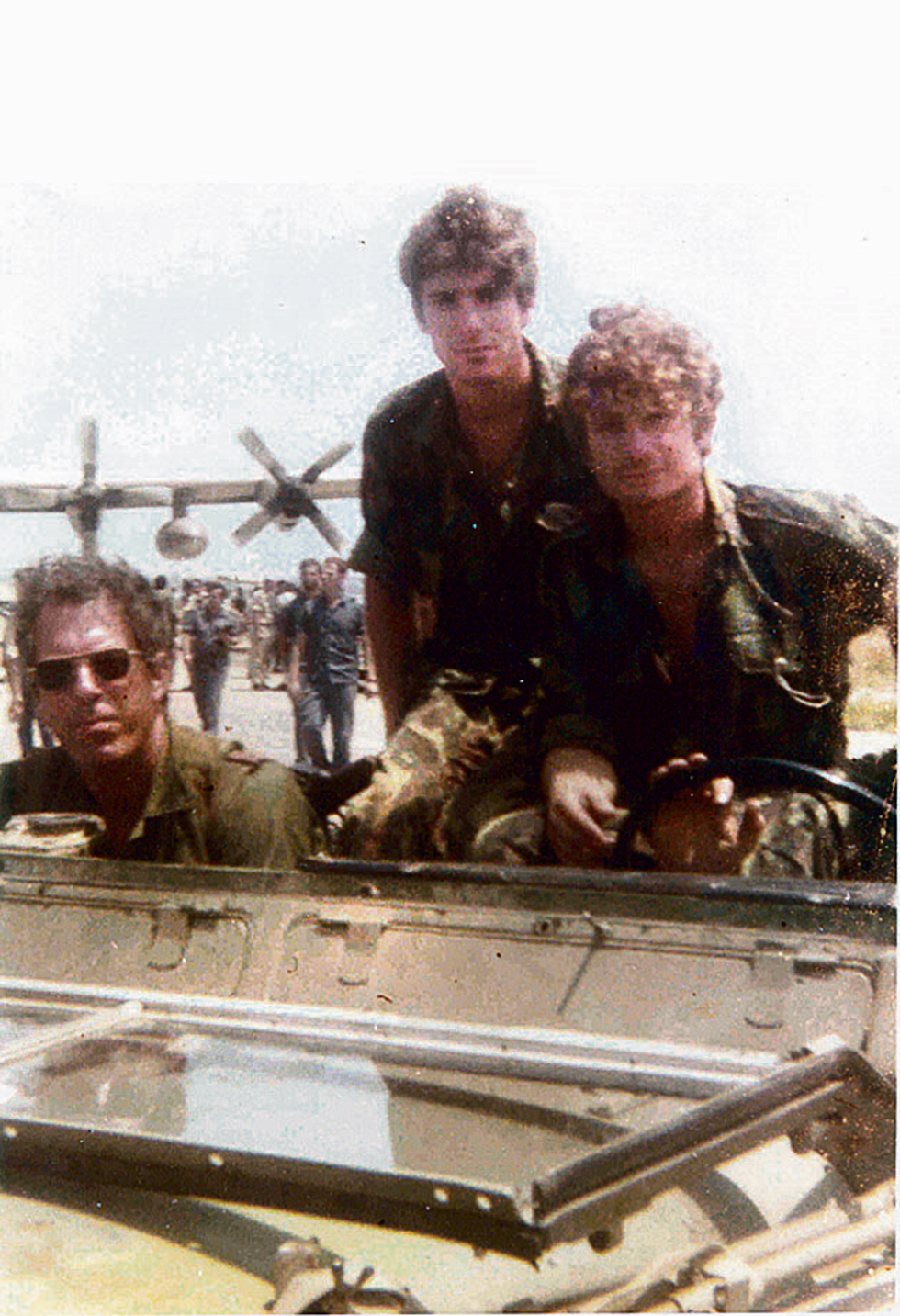 Sayeret Matkal commandos Danny Dagan, Shlomi Reisman and Gadi Ilan before the operation (Photo courtesy of Shlomi Reisman)