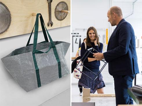 צמד מייסדי HAY והתיק החדש שעיצבו לאיקאה (צילום: באדיבות IKEA)