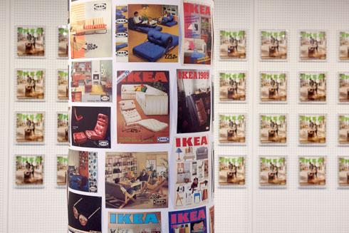 אגף שלם במוזיאון מוקדש לקטלוגים (צילום: באדיבות IKEA)