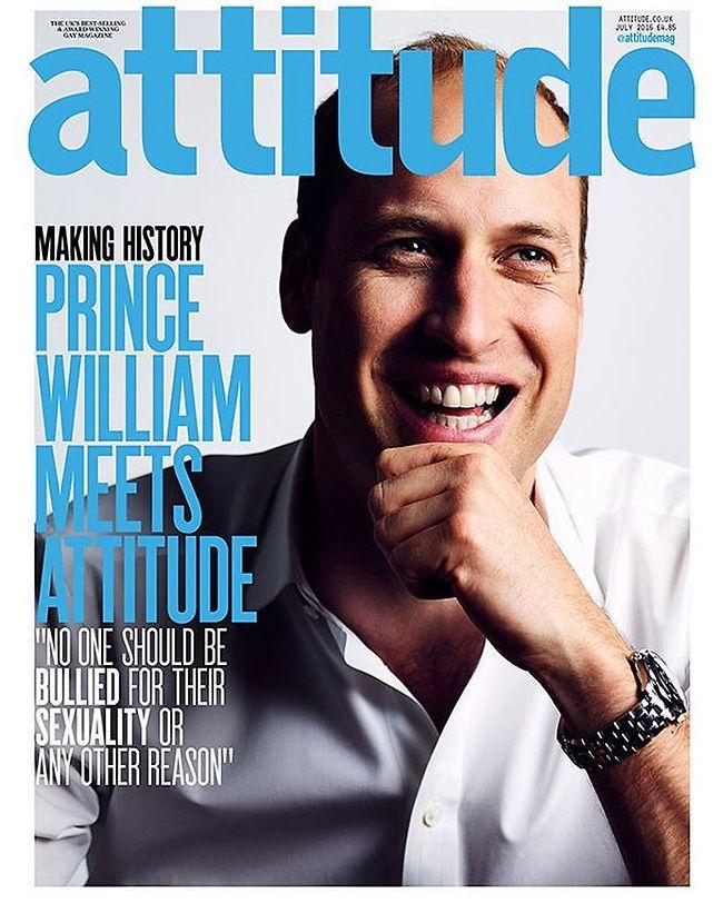 """""""אתם צריכים להיות גאים בעצמכם"""". וויליאם על שער המגזין Attitude ()"""