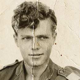 Surin Hershko as a young soldier, before his injury.