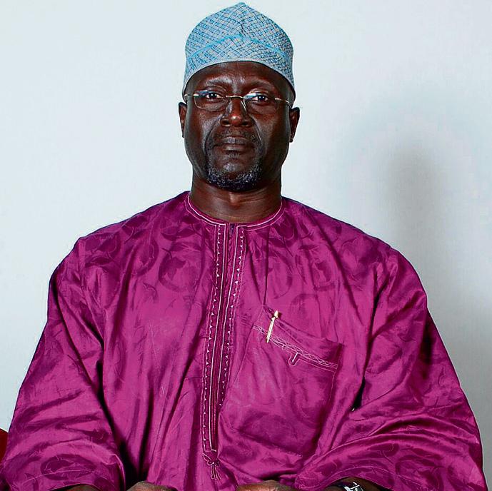 Jaffar Amin in traditional garb