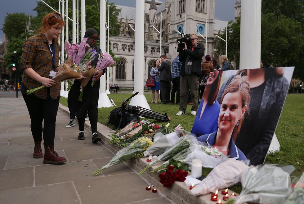 כל חטאה היה תמיכתה בהישארות בריטניה באיחוד האירופי. חברת הפרלמנט ג'ו קוקס שנרצחה (צילום: AFP) (צילום: AFP)