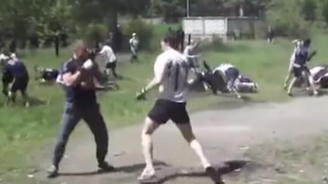 מחנה אימונים לחוליגנים ברוסיה. מהעוני והשעמום צמחה אלימות (צילום: youtube) (צילום: youtube)