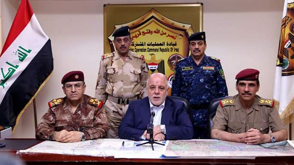 Iraqi Prime Minister Haider al-Abadi, declaring victory.
