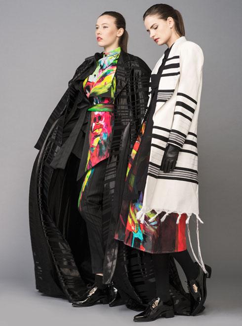 שילוב בין אמירה אישית ועיצובית לאג'נדה חברתית ודתית. אלי עג'מי  (צילום: גלעד בר שלו)
