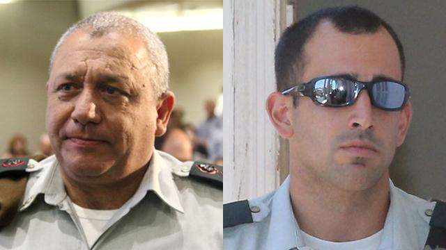 Left to Right: IDF Chief of Staff Gadi Eisenkot and Maj. Tom Na'aman