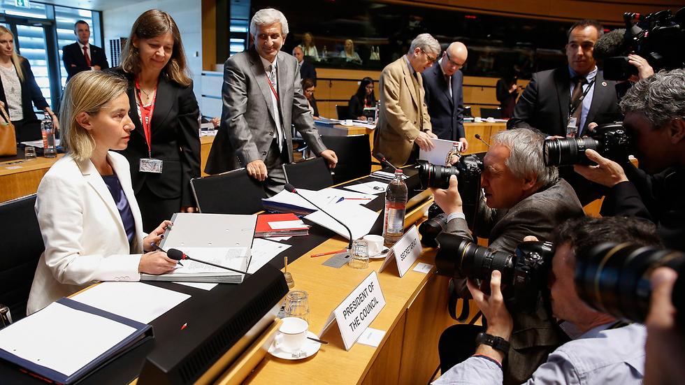 EU foreign policy chief Federica Mogherini in Luxembourg (Photo: EPA) (Photo: EPA)