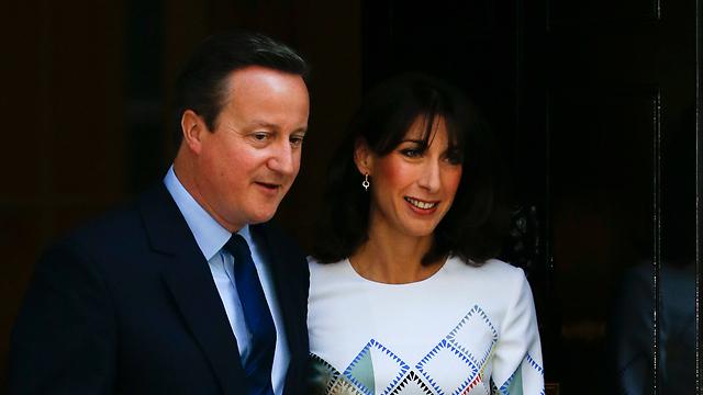 קמרון ורעייתו סמנתה. סוף הדרך כראש ממשלה (צילום: AP) (צילום: AP)