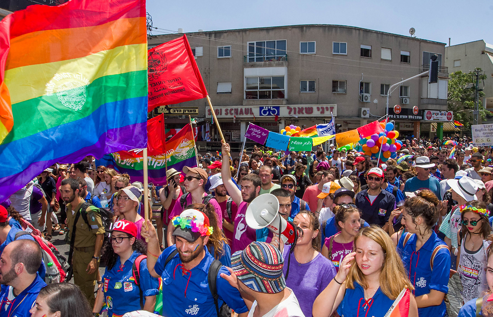 Crowds in the parade (Photo: Ido Erez)