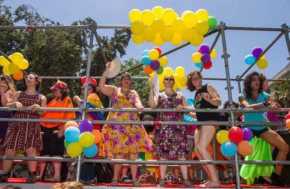 A float in the parade (Photo: Ido Erez)