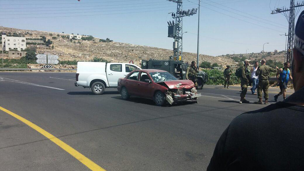 The terrorists' car at the scene