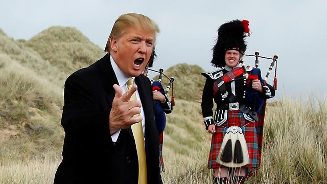 טראמפ בסקוטלנד (צילום: רויטרס) (צילום: רויטרס)