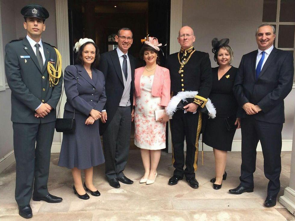 Mark Regev and his team at Buckingham Palace
