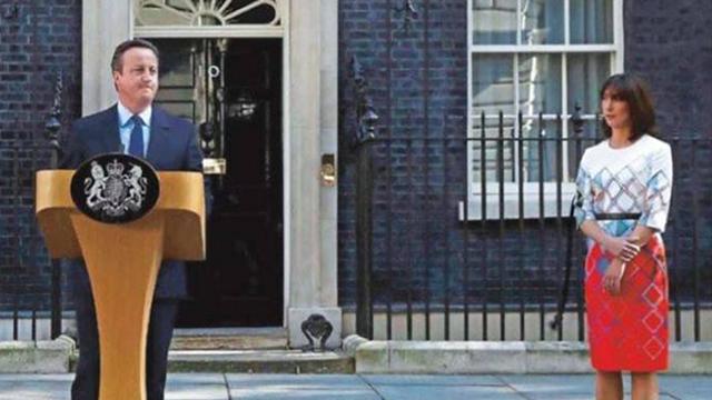 ראש הממשלה הבריטי התפטר בעקבות תוצאות משאל העם. דיוויד קמרון לצד רעייתו סמנתה