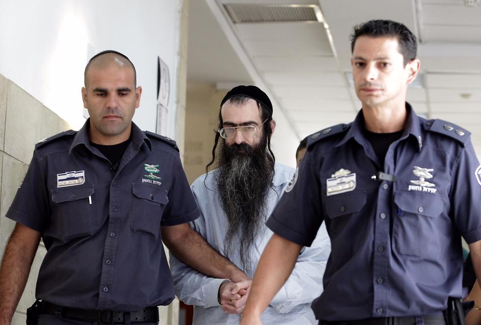 Schlissel, center, in court (Photo: Gil Yohanan)
