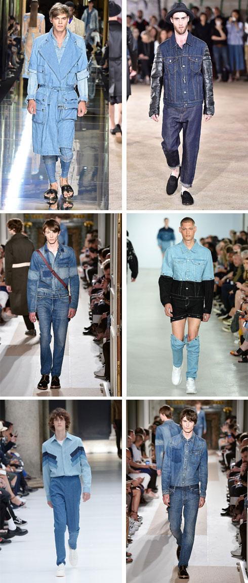 הכחול הגדול. טוטאל לוק של ג'ינס בתצוגות של בלמן, ג'וניה ווטנבה, ולנטינו, כריסטופר שאנון וניל בארט (צילום: gettyimages)