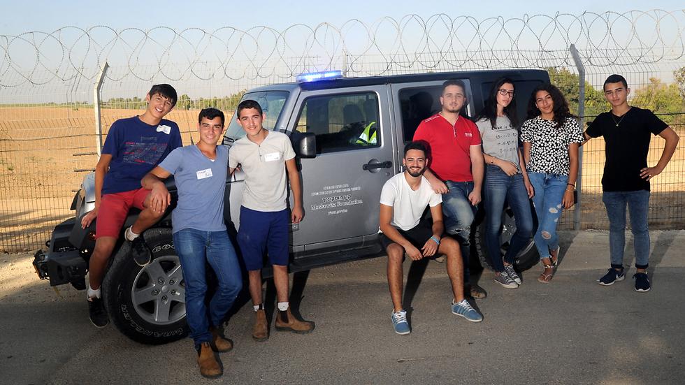 """""""המטרה - העלאת המודעות להתנדבות בשעת חירום בקרב בני הנוער"""" (צילום: חיים הורנשטיין) (צילום: חיים הורנשטיין)"""