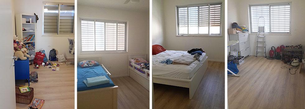 ארבעת חדרי השינה לפני ההלבשה (צילום: STUDIO DETAILS)