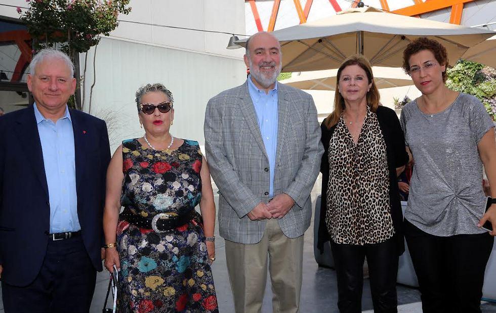רבקה אלגריסי, דליה רבין, רון פרושאור, חנה פרי-זן, יאיר סרוסי (צילום: סיון פרג') (צילום: סיון פרג')