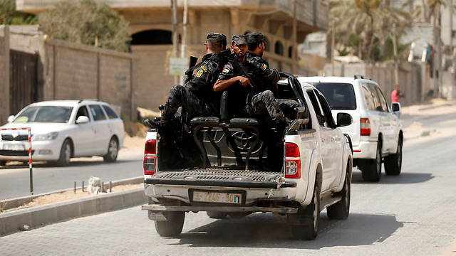 Hamas police (Photo: Reuters)