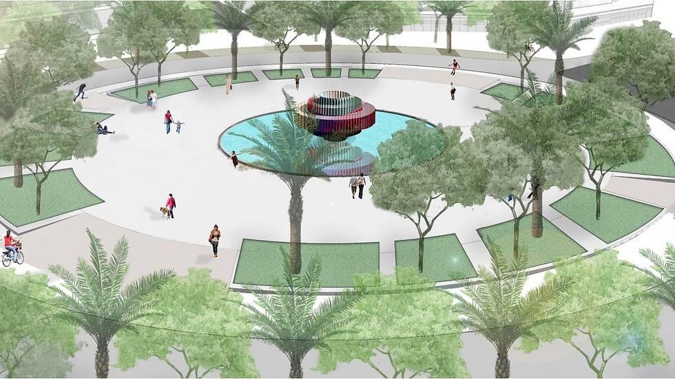 חלופה א' (קרדיט: משרד מוריה סקלי אדריכלות נוף)