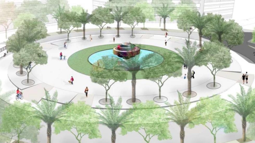 חלופה ב' (קרדיט: משרד מוריה סקלי אדריכלות נוף)