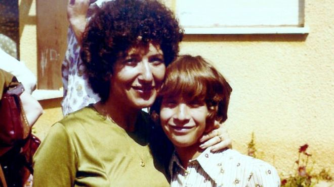 Two of the Entebbe hostages: Sara Davidson and her son Benny (Photo courtesy)