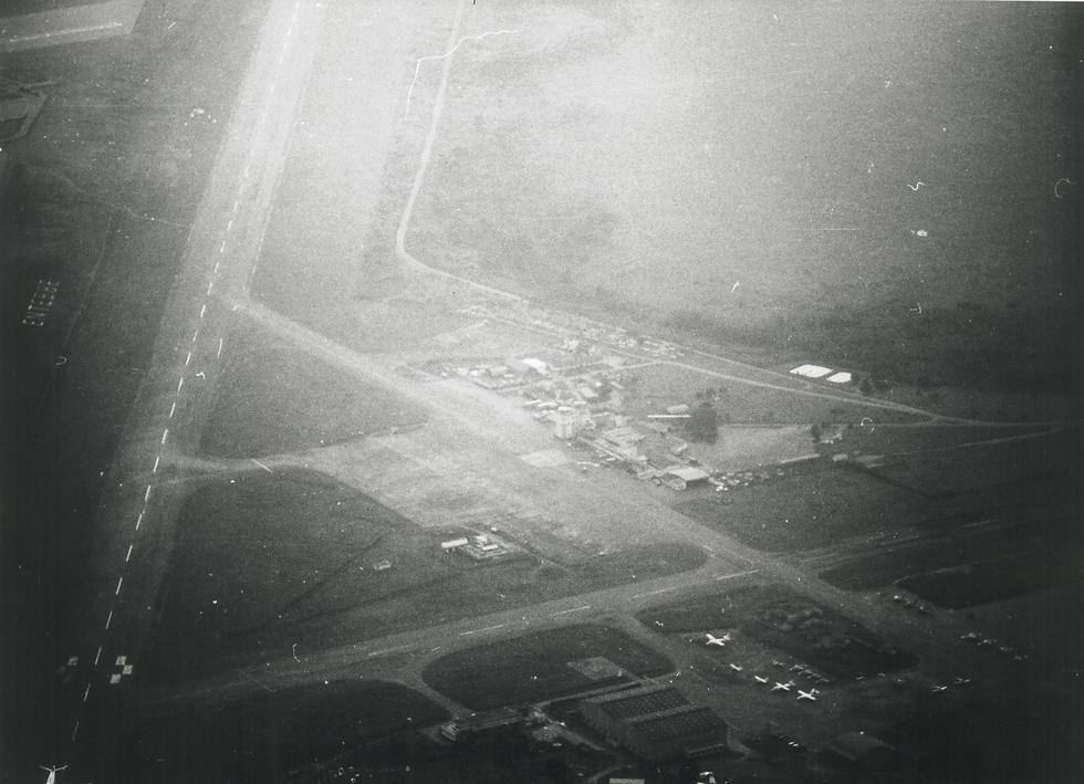 Aerial photo of the Entebbe airport taken by a Mossad agent three days before the operation (Photo courtesy of Ronen Bergman)
