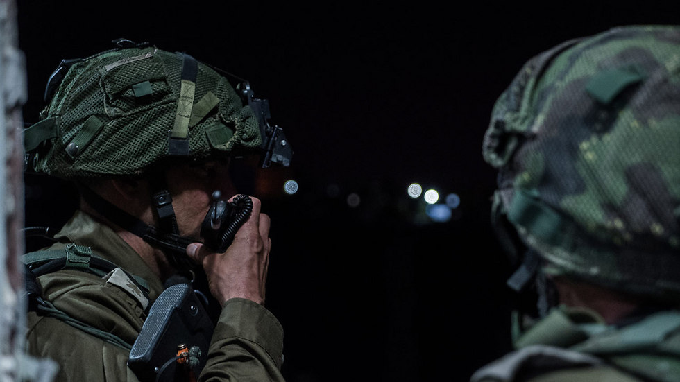 IDF carry out operations in Bani Na'im village (Photo: IDF spokesperson's unit)