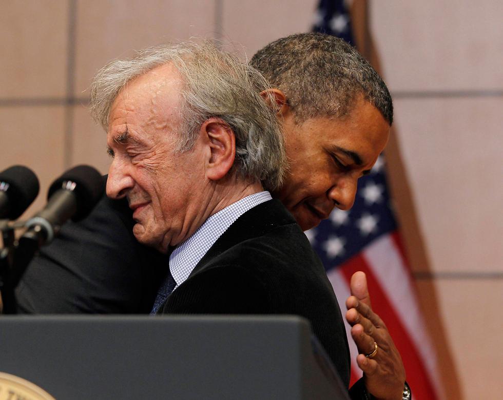 Barack Obama hugging Elie Wiesel (Photo: Reuters)