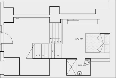 תוכנית קומת הגלריה (תוכנית: LJDesigners)