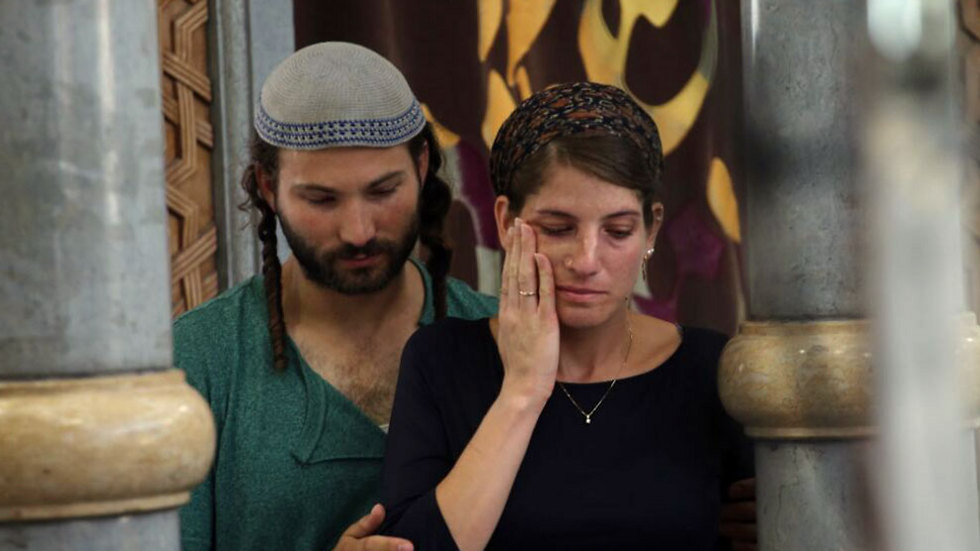 "Yiska and Shlomi Mark. ""not every Arab is a terrorist, and I say this from experience."" (Photo: Ohad Zwigenberg)"