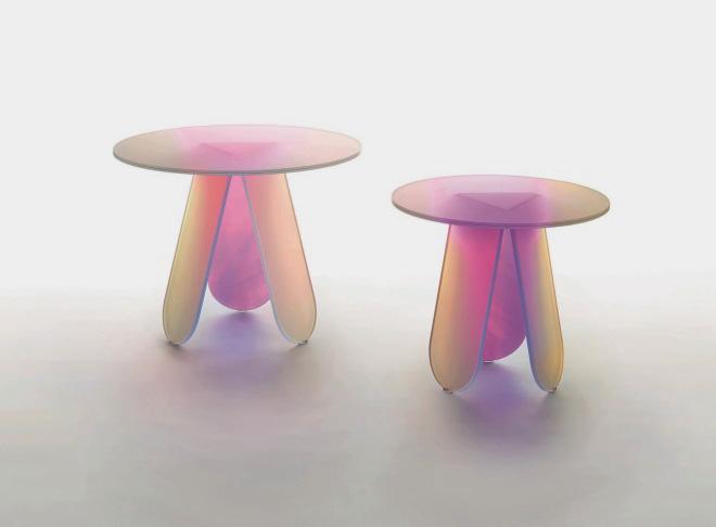שולחנות של פטריסיה אורקיולה לחברת הזכוכית Glas Italia