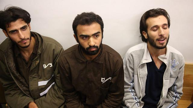המחבלים: חאלד מחאמרה, יונס זין ומוחמד מחאמרה (צילום: מוטי קמחי )