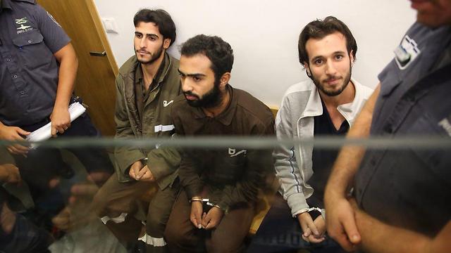 המחבלים: חאלד מחאמרה, יונס זין, מוחמד מחאמרה (צילום: מוטי קמחי ) (צילום: מוטי קמחי )