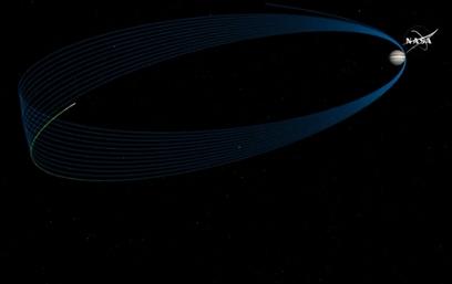 """החללית תקיף את צדק 37 פעמים (צילום הדמיה: נאס""""א) (צילום הדמיה: נאס"""