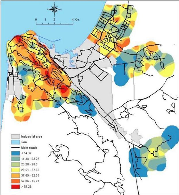 New study points to Haifa area cancer hot spots caused by pollution
