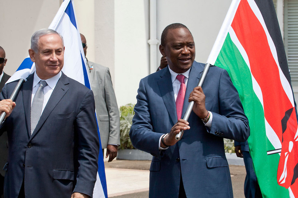 נתניהו ונשיא קניה  ( צילום: AP) ( צילום: AP)