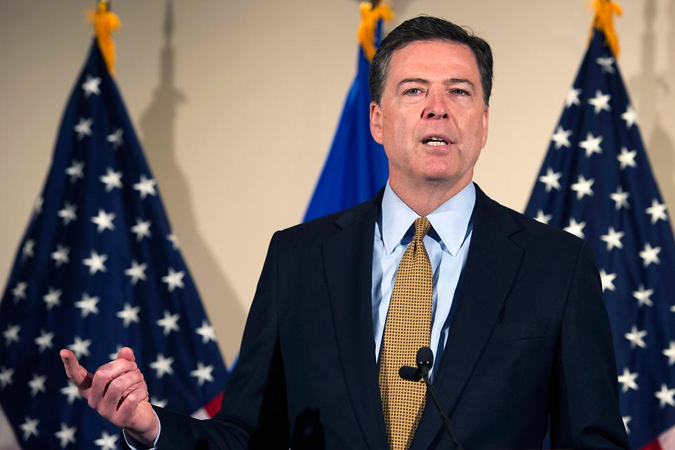 מסיבת העיתונאים של ראש ה-FBI, ג'יימס קומי (צילום: AP) (צילום: AP)