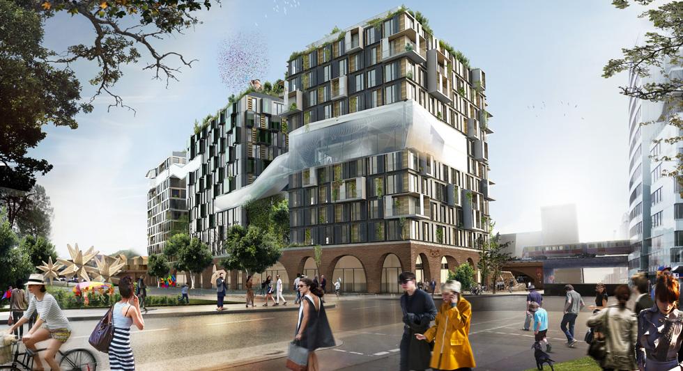 פרויקט בהקמה עם שימושים מעורבים: שוק ECKWERK HOLZMARKT בברלין. יכלול מגורים ומשרדים (צילום: באדיבות World Architecture Festival announces 2016)